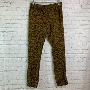NWT Sanctuary X Anthropologie Leopard Jogger Small